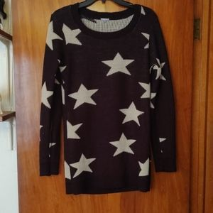 3/$30  Charlotte Russe long, star sweater